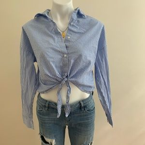 F21 Cropped Button Down